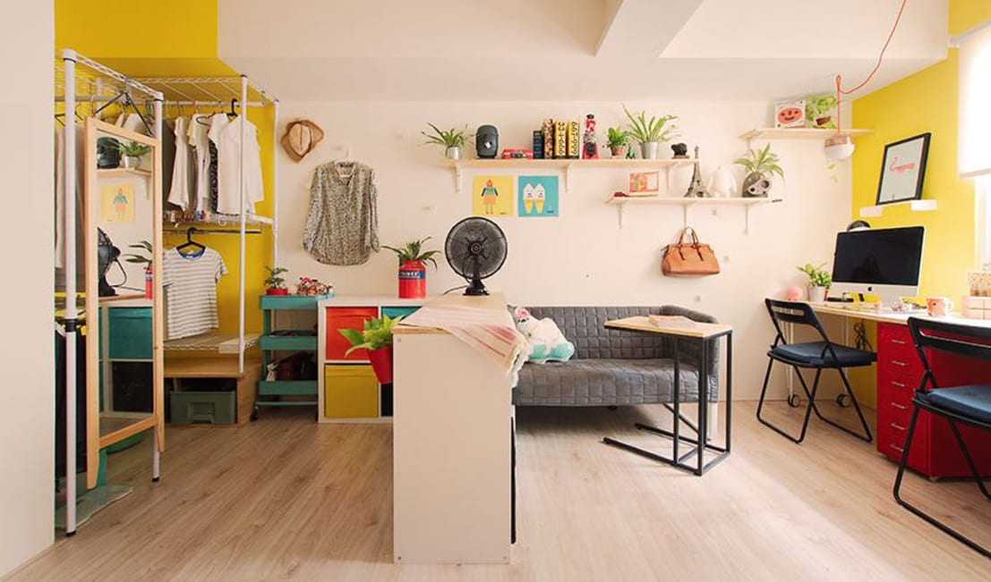 Low budget makeover of a tiny basement