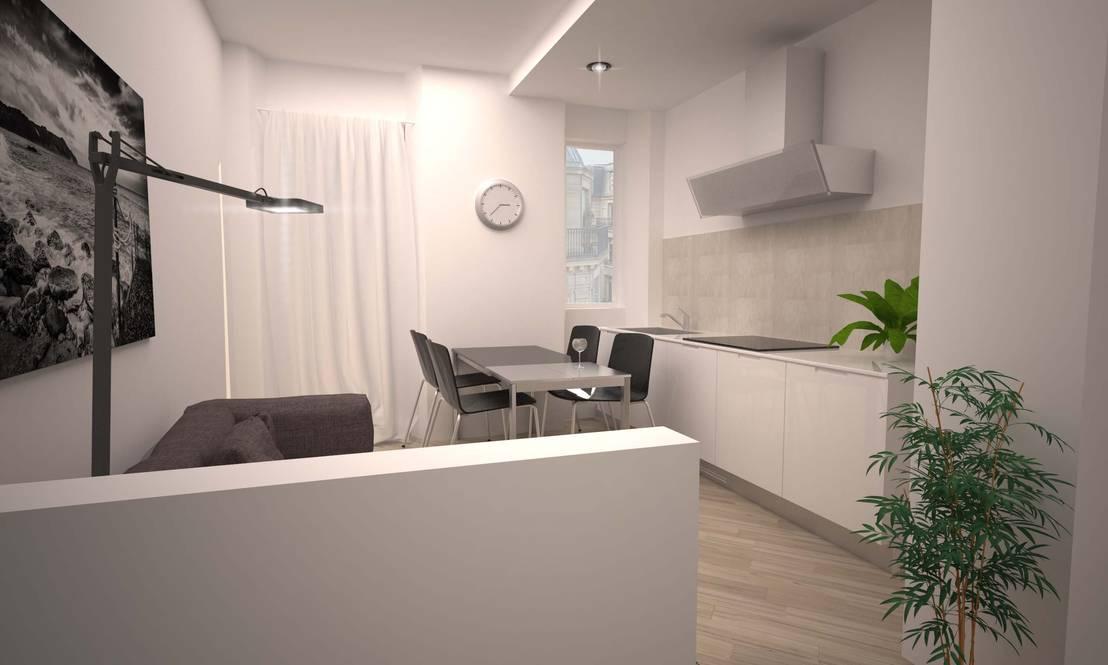 Un appartamento piccolissimo con stile e funzionalit for Progettare un appartamento
