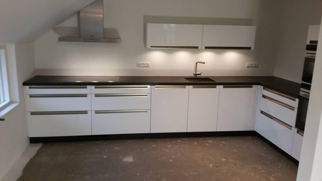 De Lange Keukens : Moderne greeploze keuken von de lange keukens homify