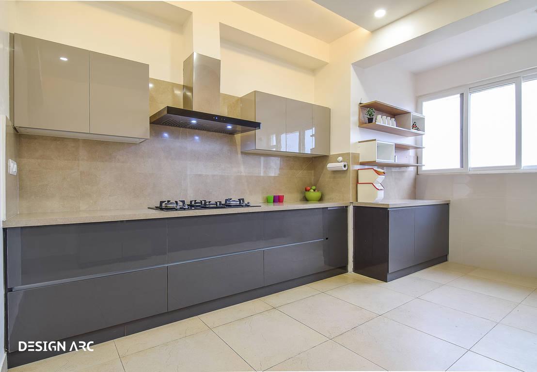Apartment interior design bangalore 4bhk by design arc for Modern kitchen design in india