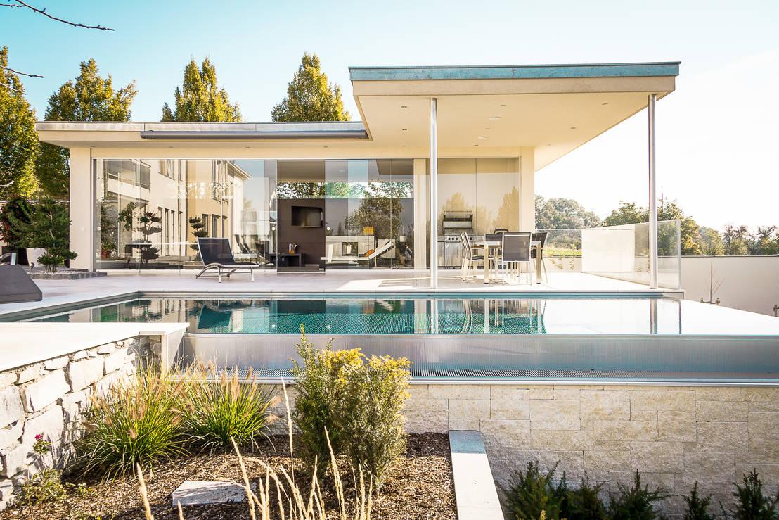 Modernes traumhaus mit viel glas for Modernes traumhaus