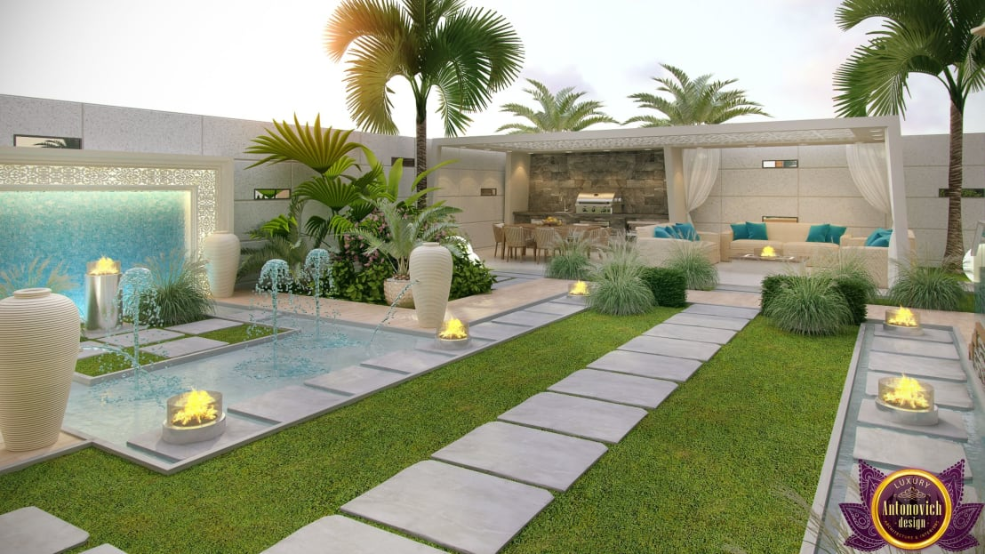 8 gardens that will inspire you to work on your own for Garden pool dubai