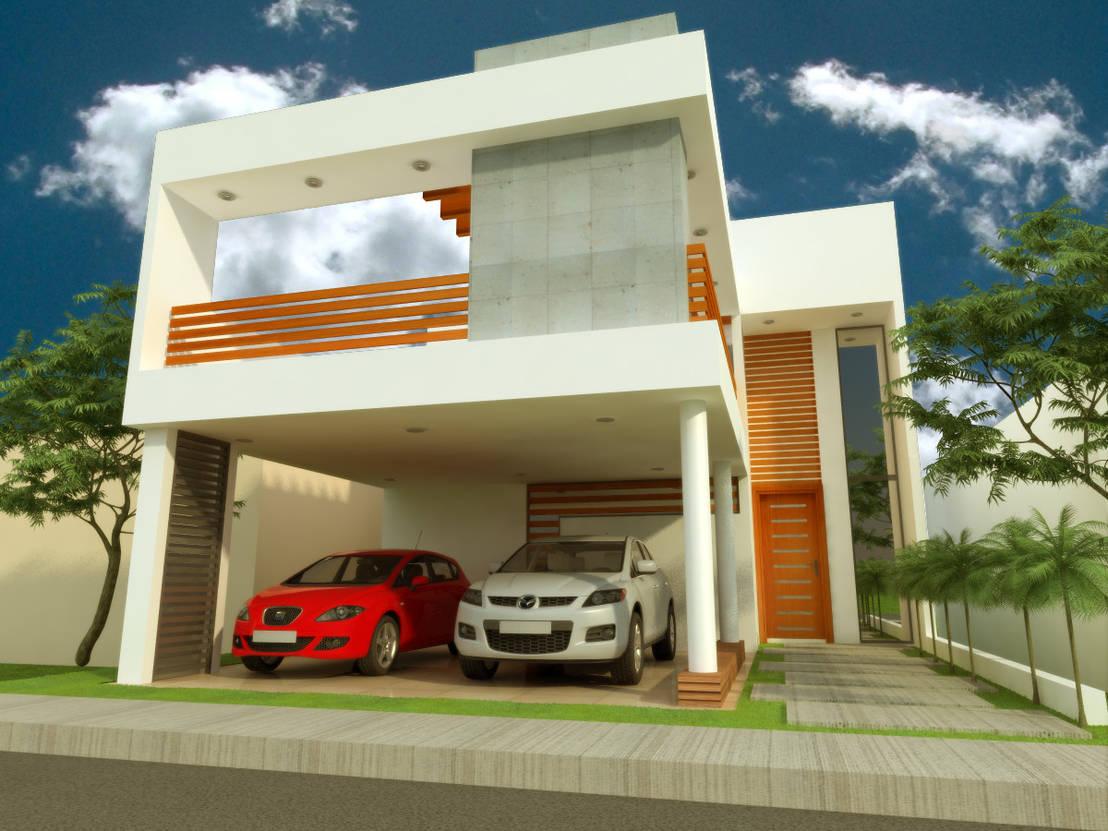 Casa habitacion l r por dlr arquitectura dlr dise o en madera homify - App diseno casas ...