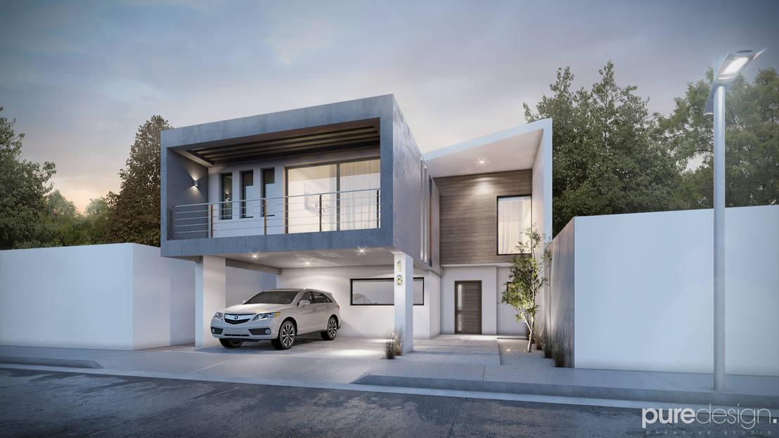 20 fachadas de casas modernas fabulosas for Casa minimalista un nivel