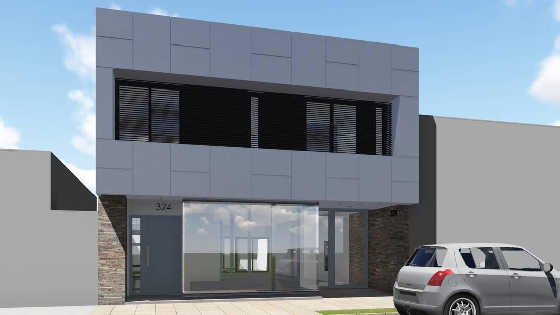 Oficinas p b y vivienda p a de arbol arquitectos homify for Fachadas oficinas minimalistas