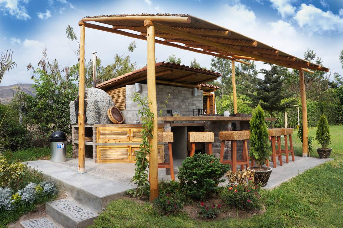 Una casa de campo peruana con parrilla y horno de barro - Jardines con estilo ...