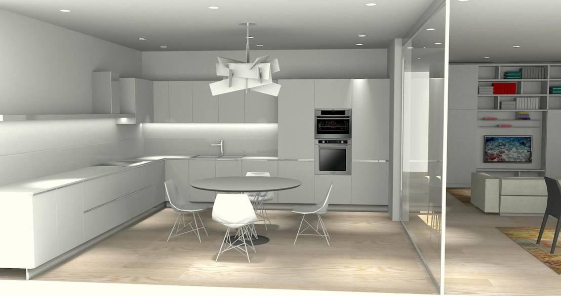 Progetto cucina zona giorno e camerette por carlo tosin for Progetto zona giorno