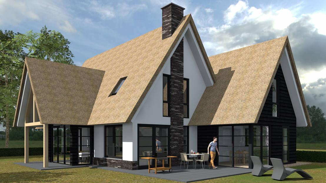 Woning nieuwkoop door bongers architecten homify for Architecten moderne stijl