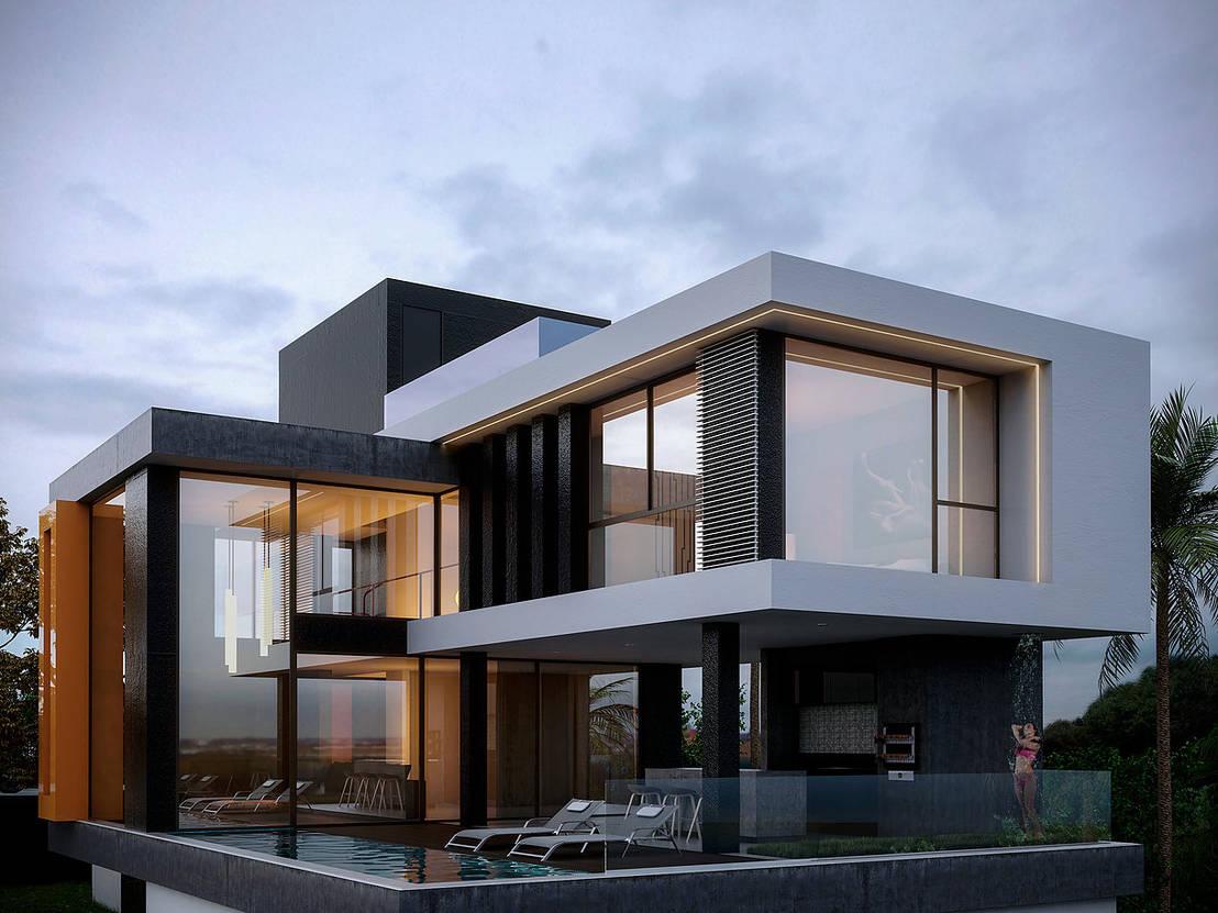 Casa e p no vale do sereno nova lima brasil por for Fachadas de casas modernas a desnivel