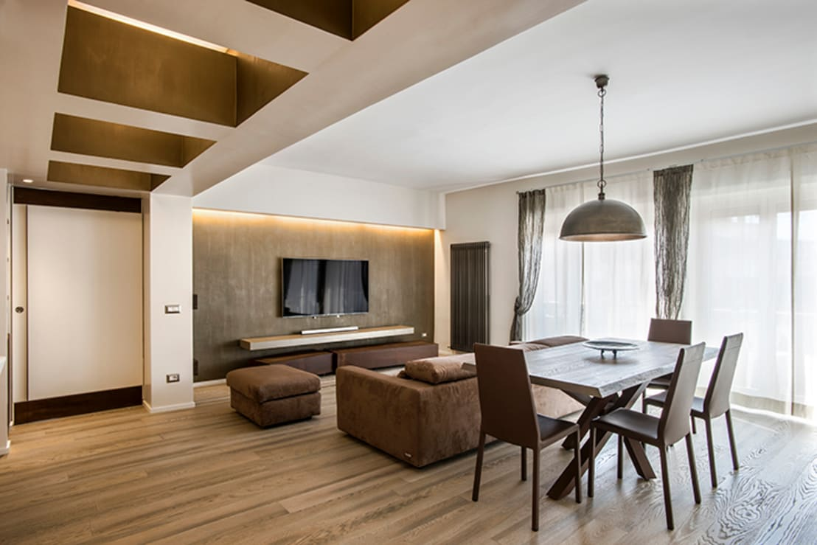 Un appartamento moderno e raffinato a roma for Appartamento moderno