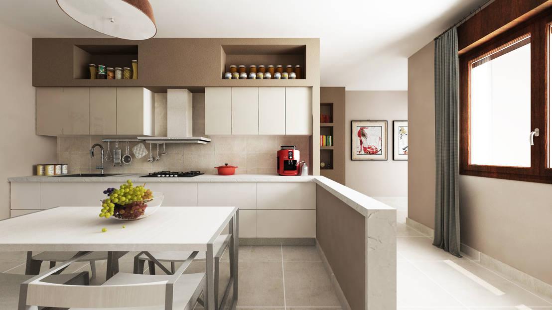 A caccia di idee 32 fantastici lavori in cartongesso for Idee per dividere cucina e soggiorno
