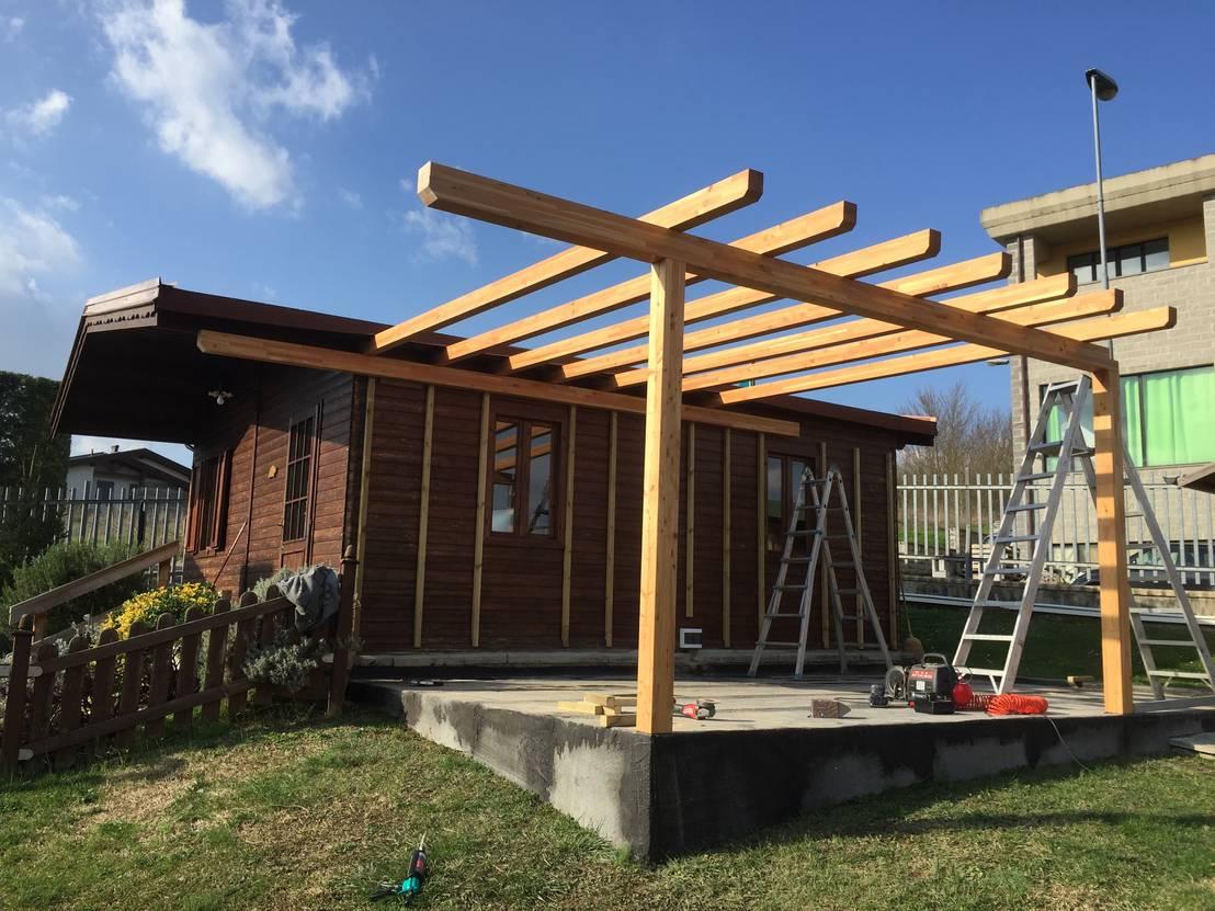 Veranda in legno a taglio termico di svitavvita homify for Piani tetto veranda protette
