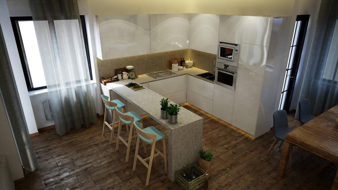 Interiorismo apartamento barcelona de toolboxstudio homify - Pisos de diseno en barcelona ...