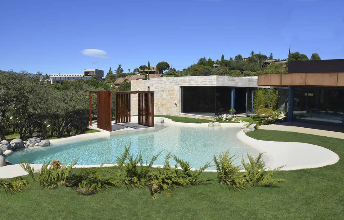 Piscinas de areia casa moderna por bebig brasil piscinas for Casa moderna 99 arena