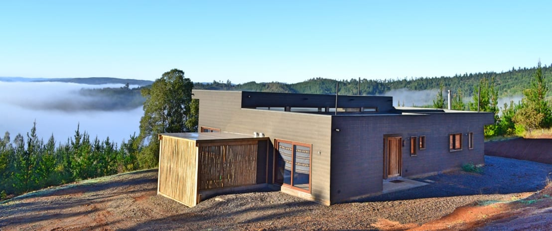 Para vivir en el sur una casa moderna y familiar a pura - Vivir en una casa de madera ...