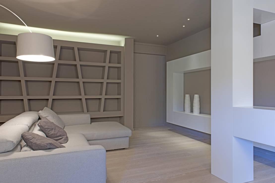 Casa tioli di luca doveri architetto studio di architettura homify - Mobili cartongesso soggiorno ...