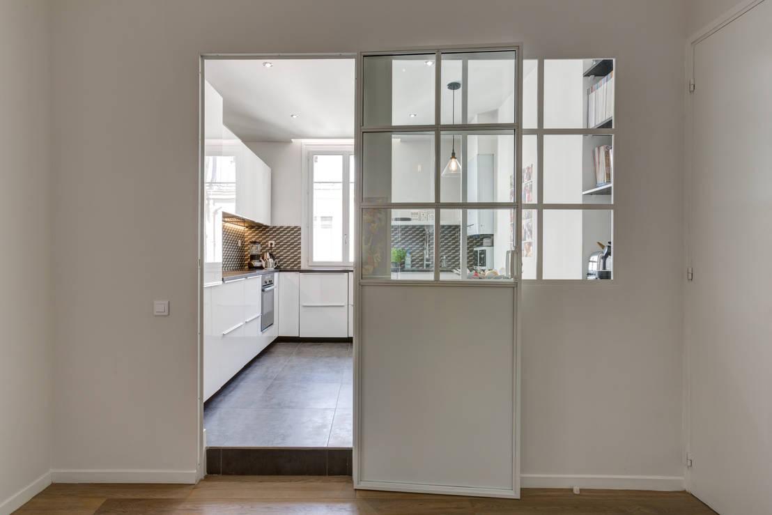 r novation d 39 un appartement rue daru par mon concept. Black Bedroom Furniture Sets. Home Design Ideas