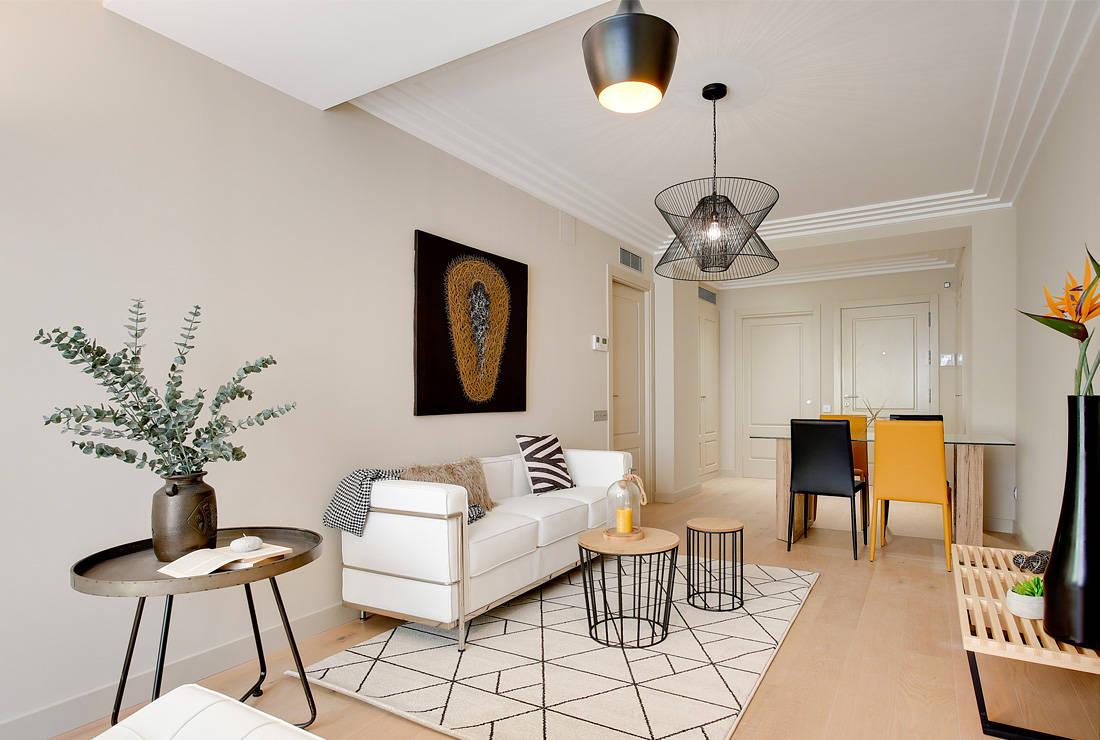 Un piso de 70 m en barcelona que enamora a cualquiera - Comedores decorados modernos ...