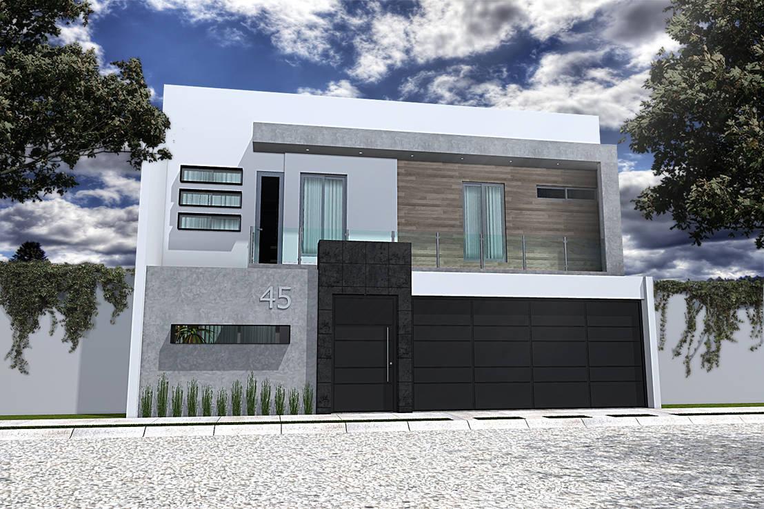 30 fachadas en 3d para que te inspires a dise ar tu casa ideal - Disenar tu casa ...
