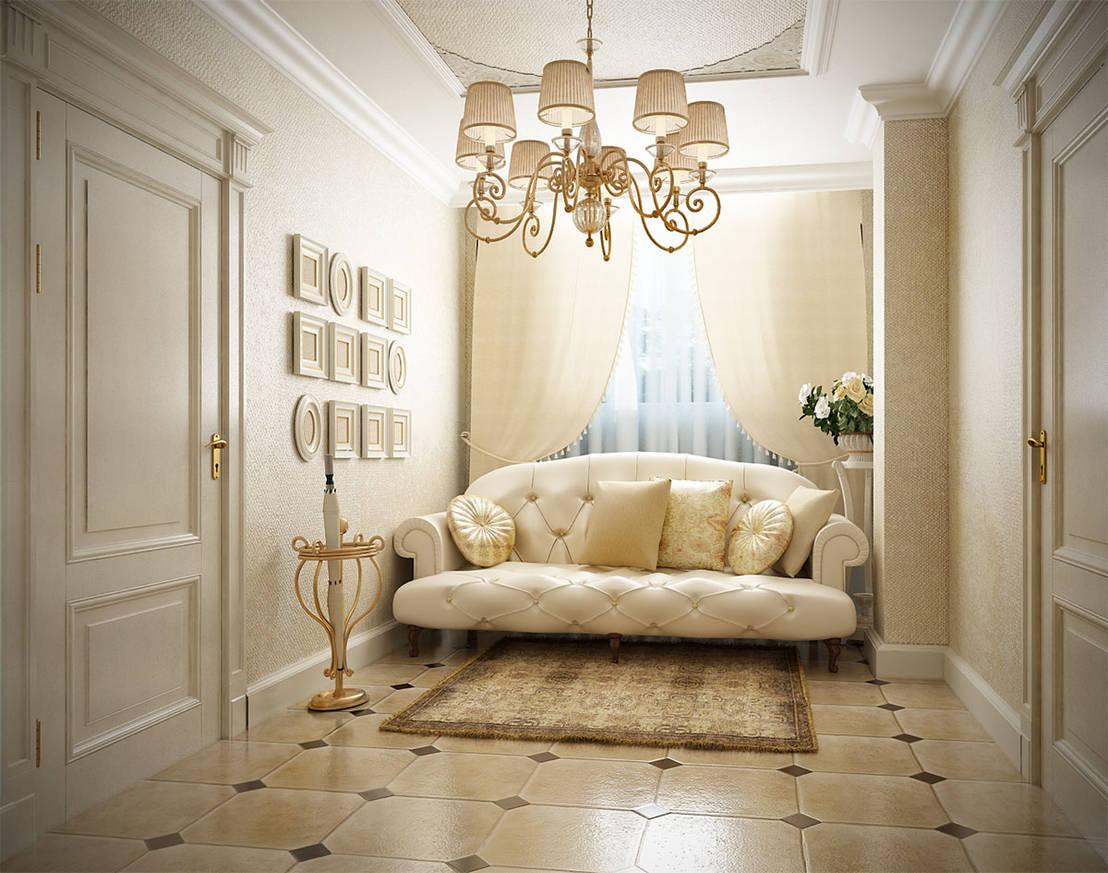 классический интерьер квартиры в светлых тонах лечение