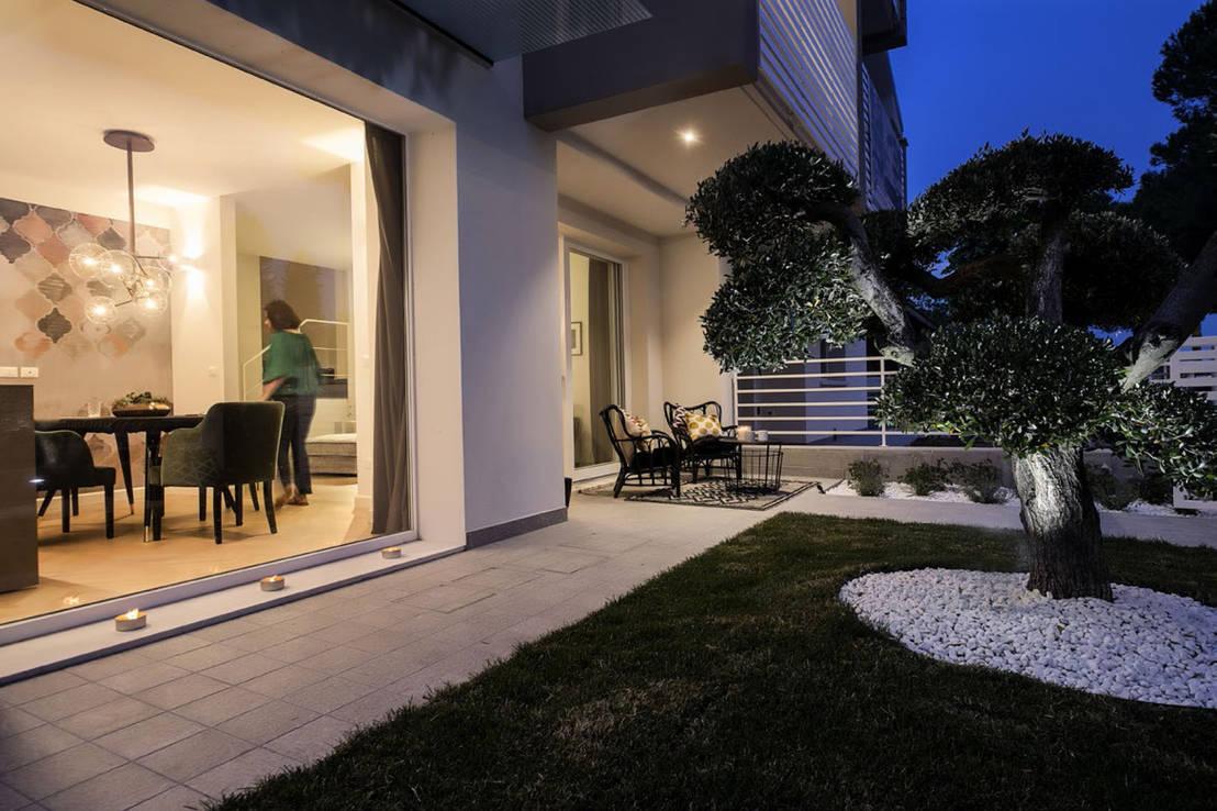 Una maravillosa casa con decoraci n moderna muy elegante - Progetti giardino per villette ...