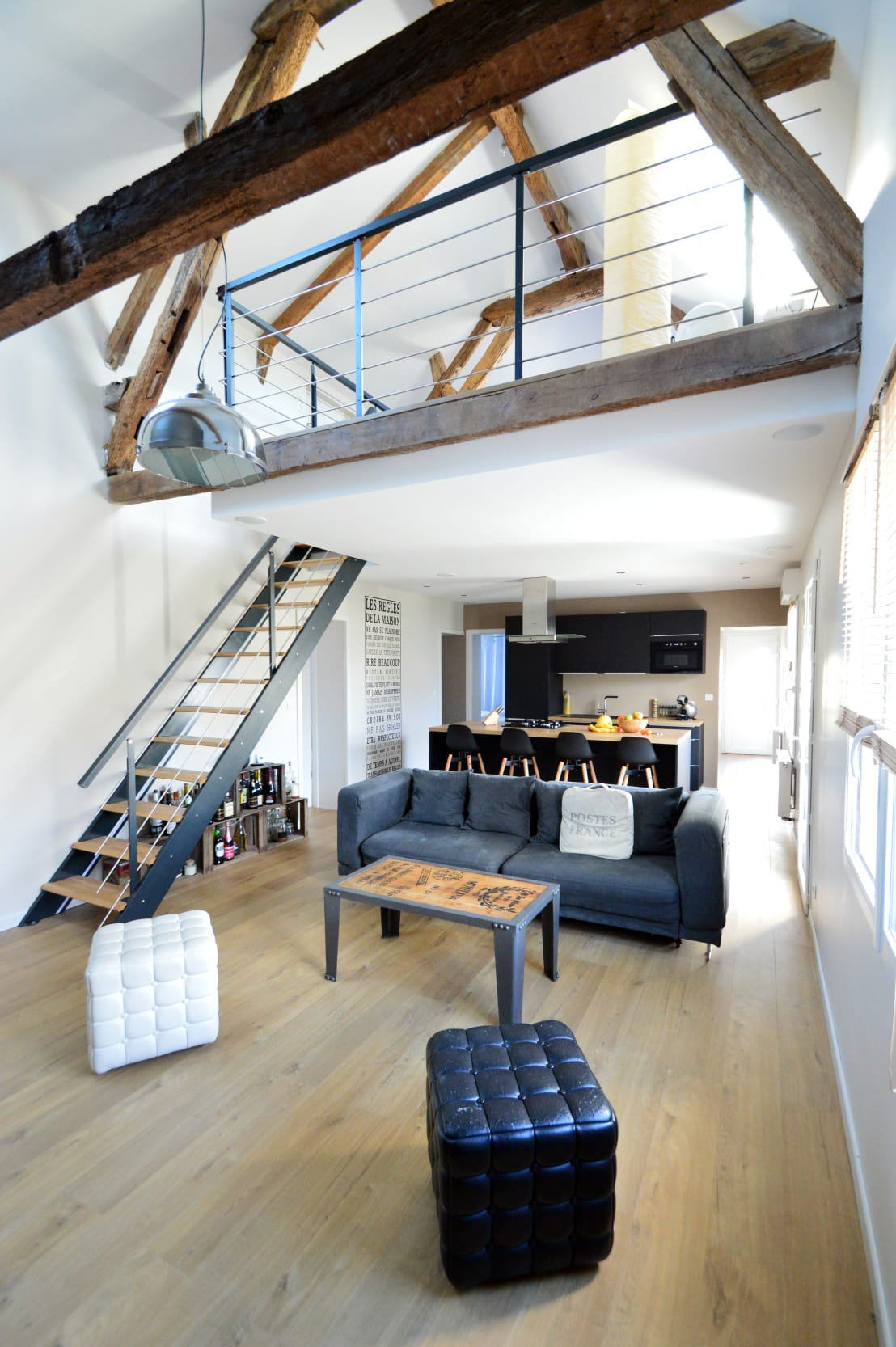 Superbe Rénovation Du0027une Petite Longère: Salon De Style De Style Industriel Par  MadaM Architecture