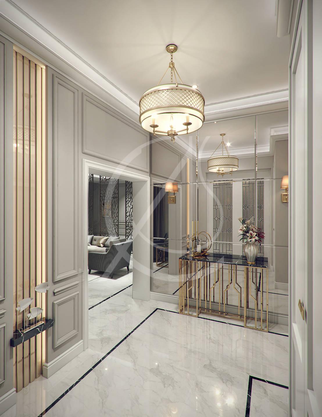 Modern classic villa interior design de comelite for Villa esplanada interior design