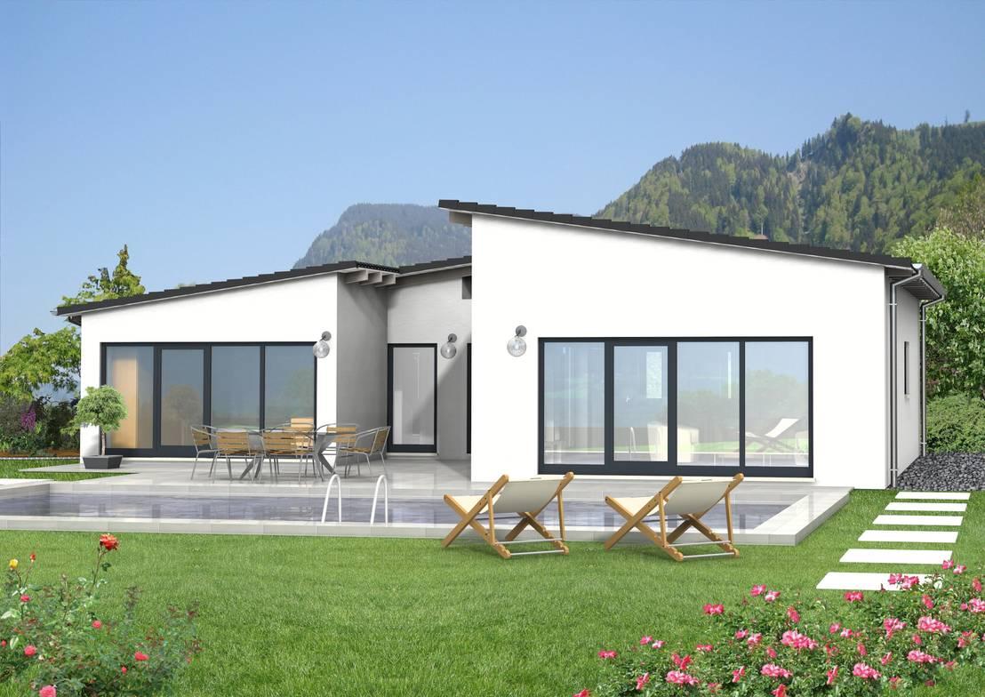 Si chalet barriere frei wohnen der bungalow von si for Chalet modern bauen