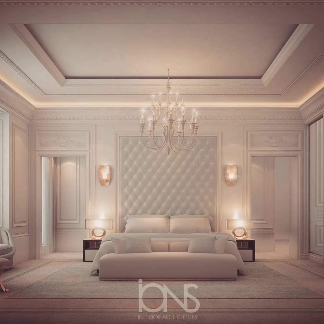 Designer Interior: Bedroom Design In Dramatic Contrast By IONS DESIGN