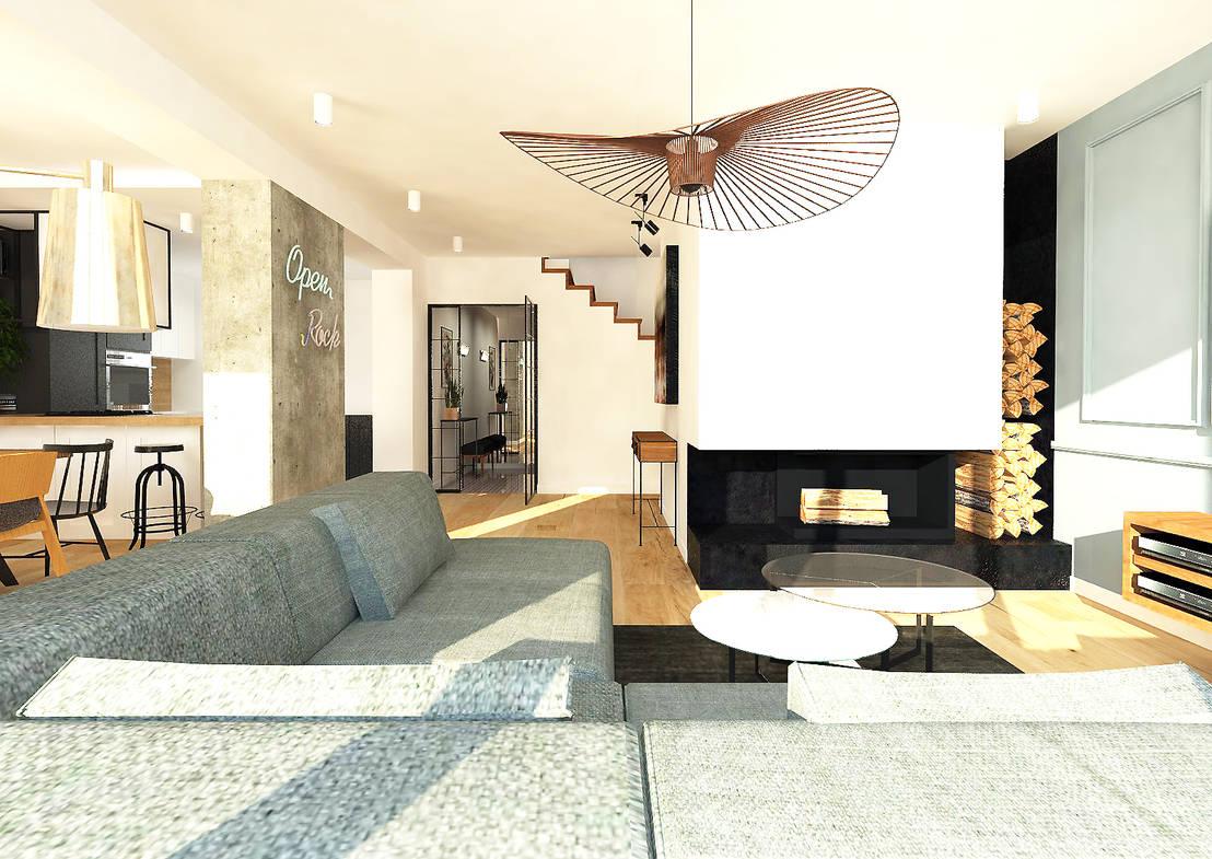 Dom szeregowy gdańsk by interior idea projektowanie wnętrz homify