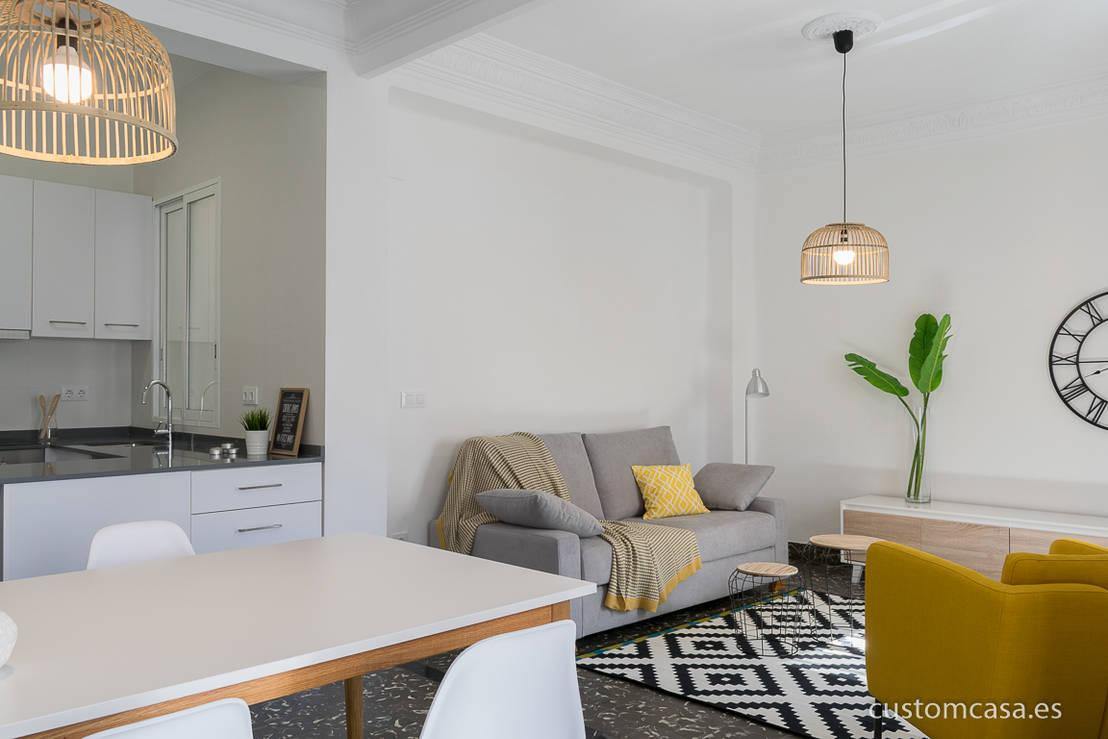 Singular vivienda de estilo n rdico en valencia de custom - Home staging valencia ...
