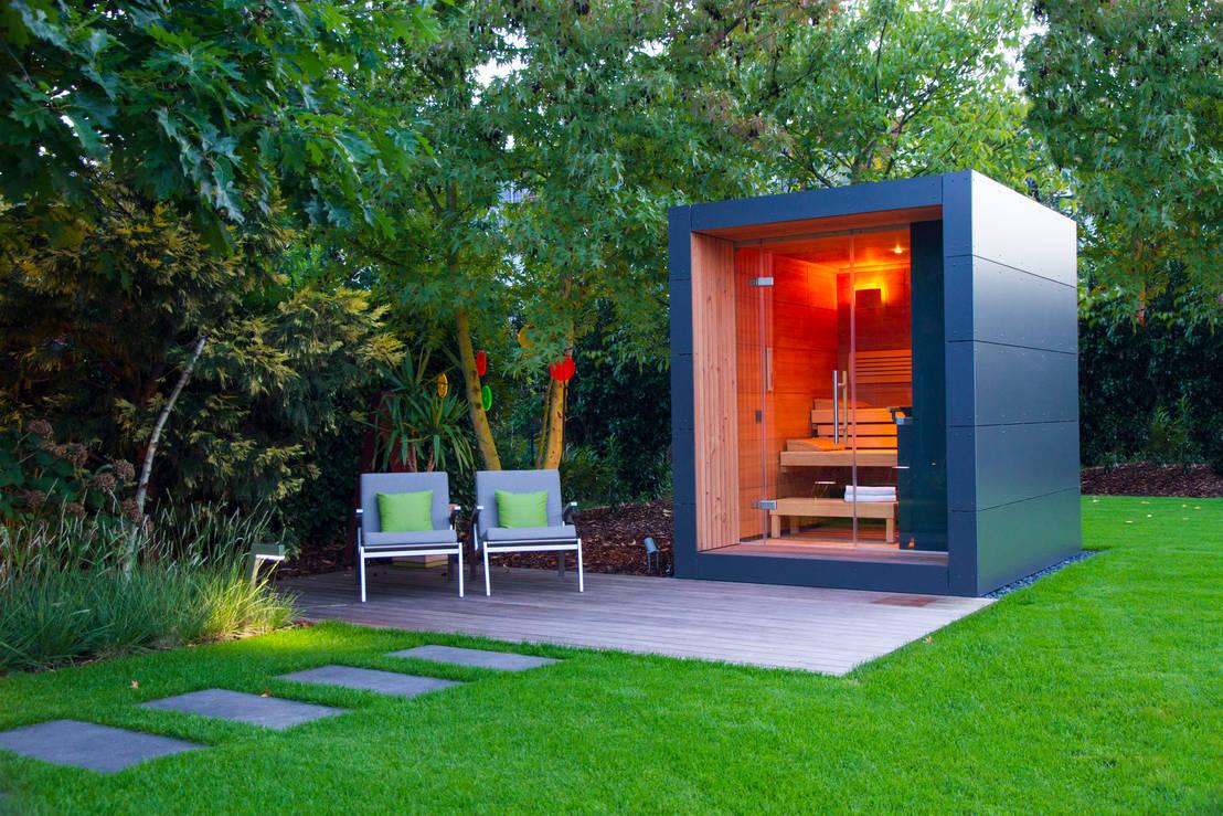 Sauna im garten door gartenhauptdarsteller homify - Gartensauna modern ...