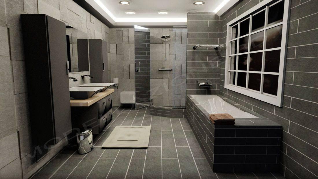Modellazione e rendering ambienti interni bagno moderno for Ambienti interni moderni