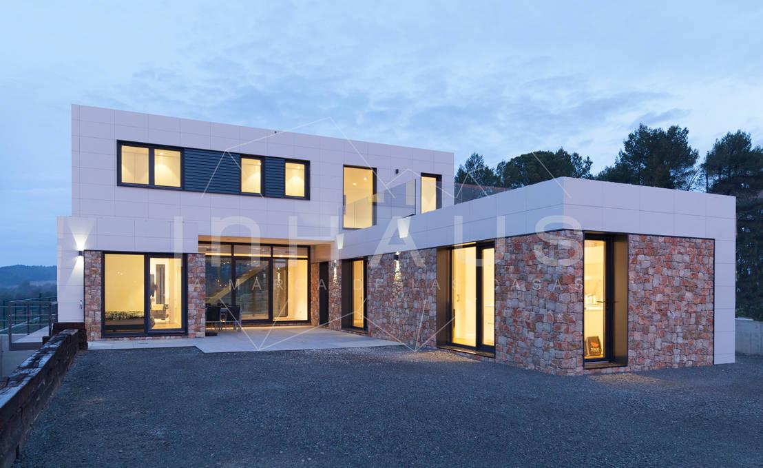 Modelo pedralbes en barcelona de casas inhaus homify - Casas inhaus ...