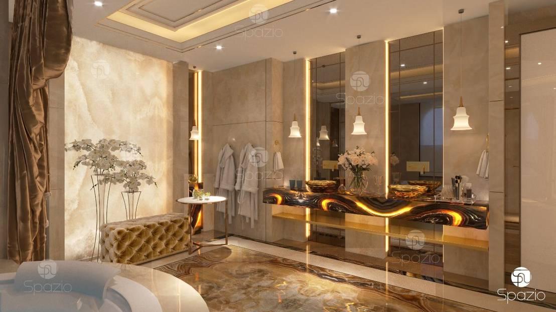 Luxury Master Bathroom With Onix Finishing By Spazio ...