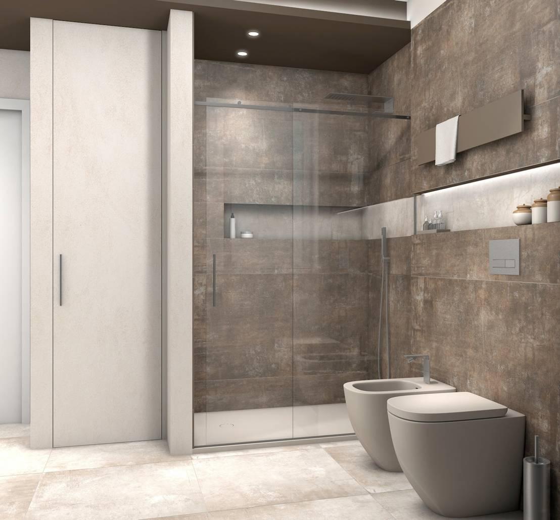 Immagini Di Bagni Moderni bagno moderno piastrelle chiare e scure di fratelli