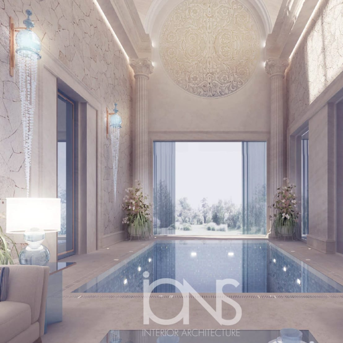 Ions Interior Design Dubai refreshing roman style indoor pool – design ideas from ions