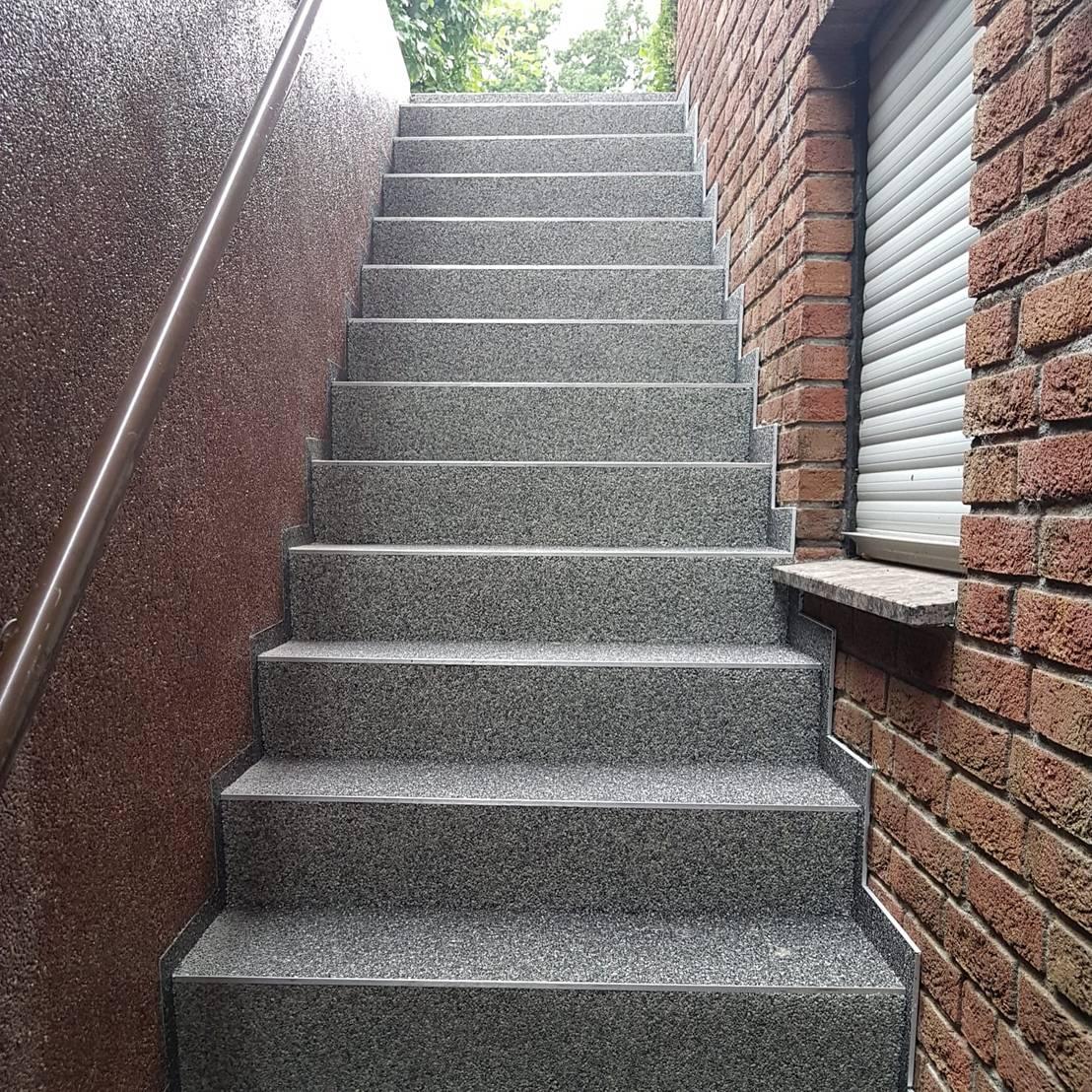Treppenrenovierung Mit Steinteppich Im Aussenbereich Par