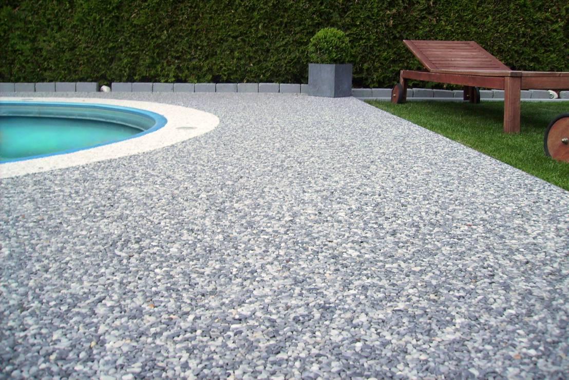 Poolumrandung aus italienischem Steinteppich aus Marmor   homify