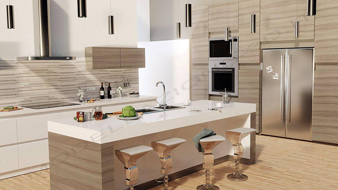 Cucina Stile Moderno Con Isola Homify