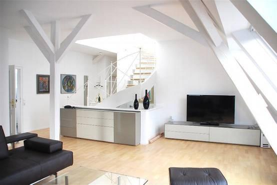 Holzbalken von rustikal bis modern for Innenarchitektur wohnzimmer modern