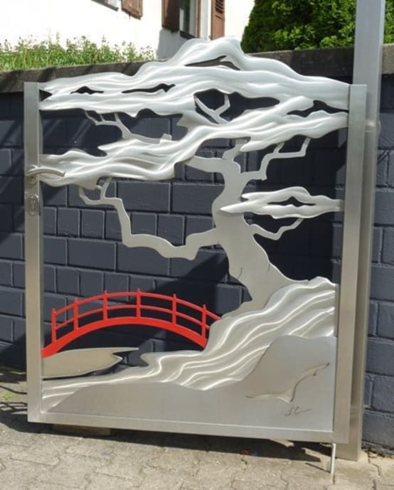 Stainless Steel Gates    'Japanese Gate'