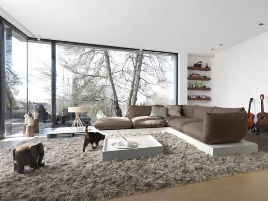 Wohnideen wohnzimmer gemütlich  Große Räume einrichten