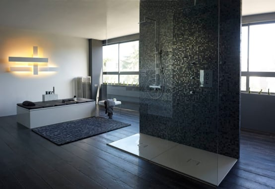 badkamertrends buitengewone douches met stijl. Black Bedroom Furniture Sets. Home Design Ideas