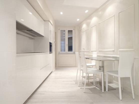40 mq in total white un appartamento ideale for Arredamento postmoderno