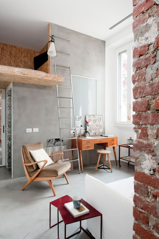 11 desain loteng spektakuler - Mezzanine woonkamer ...