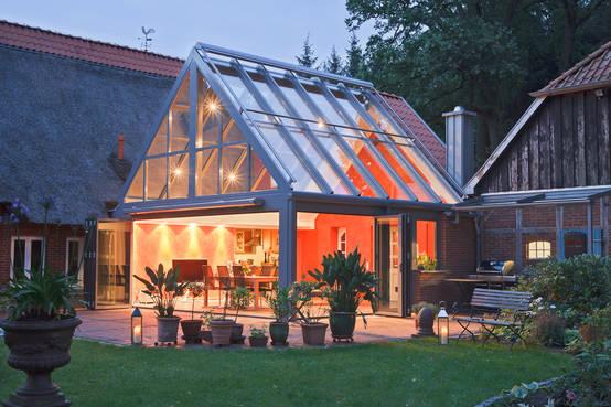 wintergarten bauen und einrichten. Black Bedroom Furniture Sets. Home Design Ideas