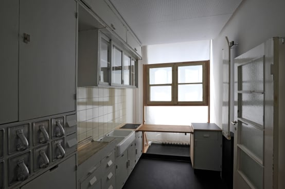 frankfurter k che im bauhausstil. Black Bedroom Furniture Sets. Home Design Ideas