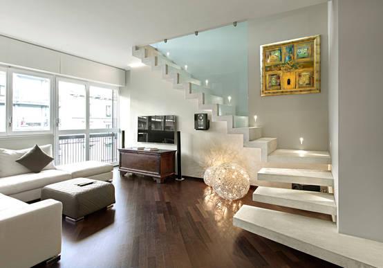 5 fabulosas ideas para salas modernas for Salas con escaleras