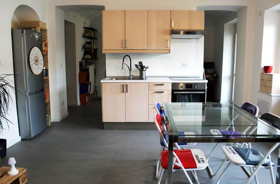 6 cucine piccole tra 20 e 9 mq - Cucina Soggiorno Open Space 20 Mq